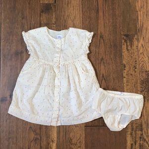Baby gap. multicolored polkadots dress. size 2